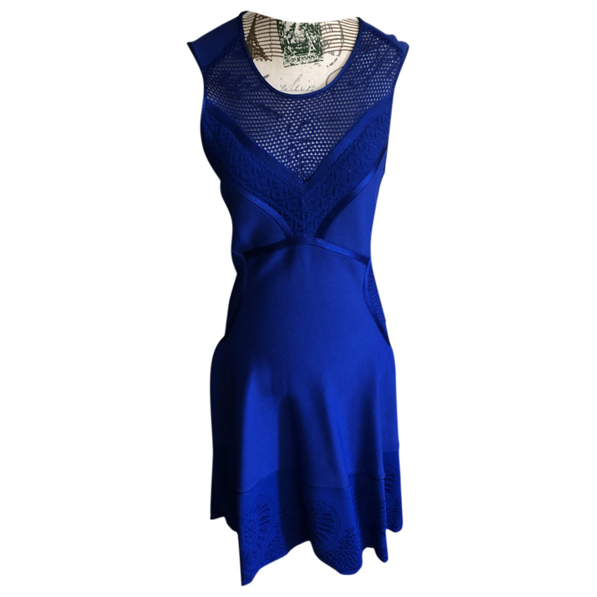 Roberto Cavalli \N Kleid in  Blau Synthetik
