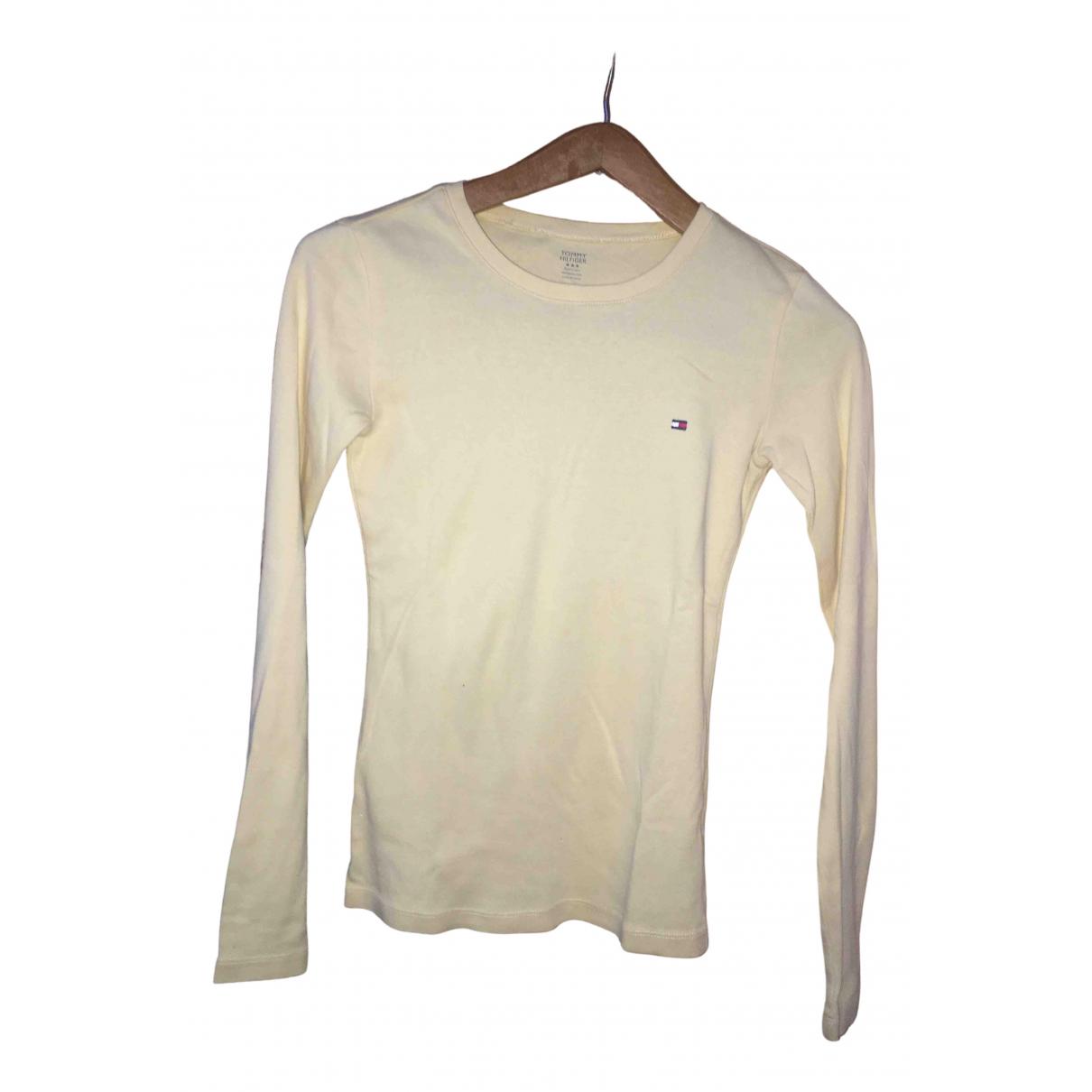Tommy Hilfiger - Pull   pour femme en coton - jaune
