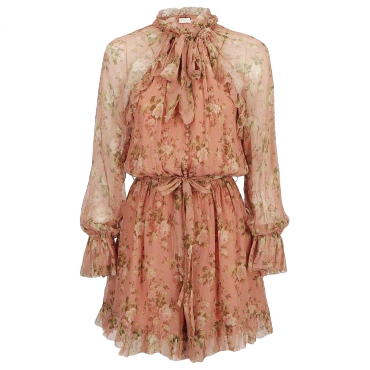 Zimmermann \N Kleid in  Rosa Seide