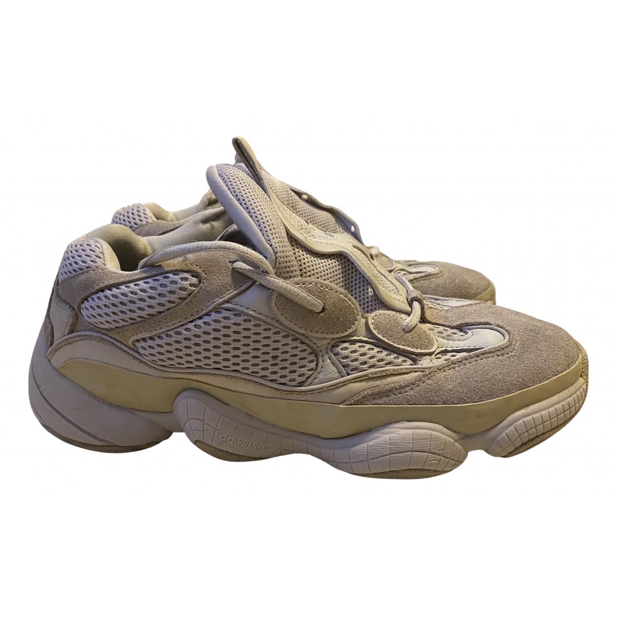 Yeezy X Adidas - Baskets 500 pour homme en suede - beige / gris