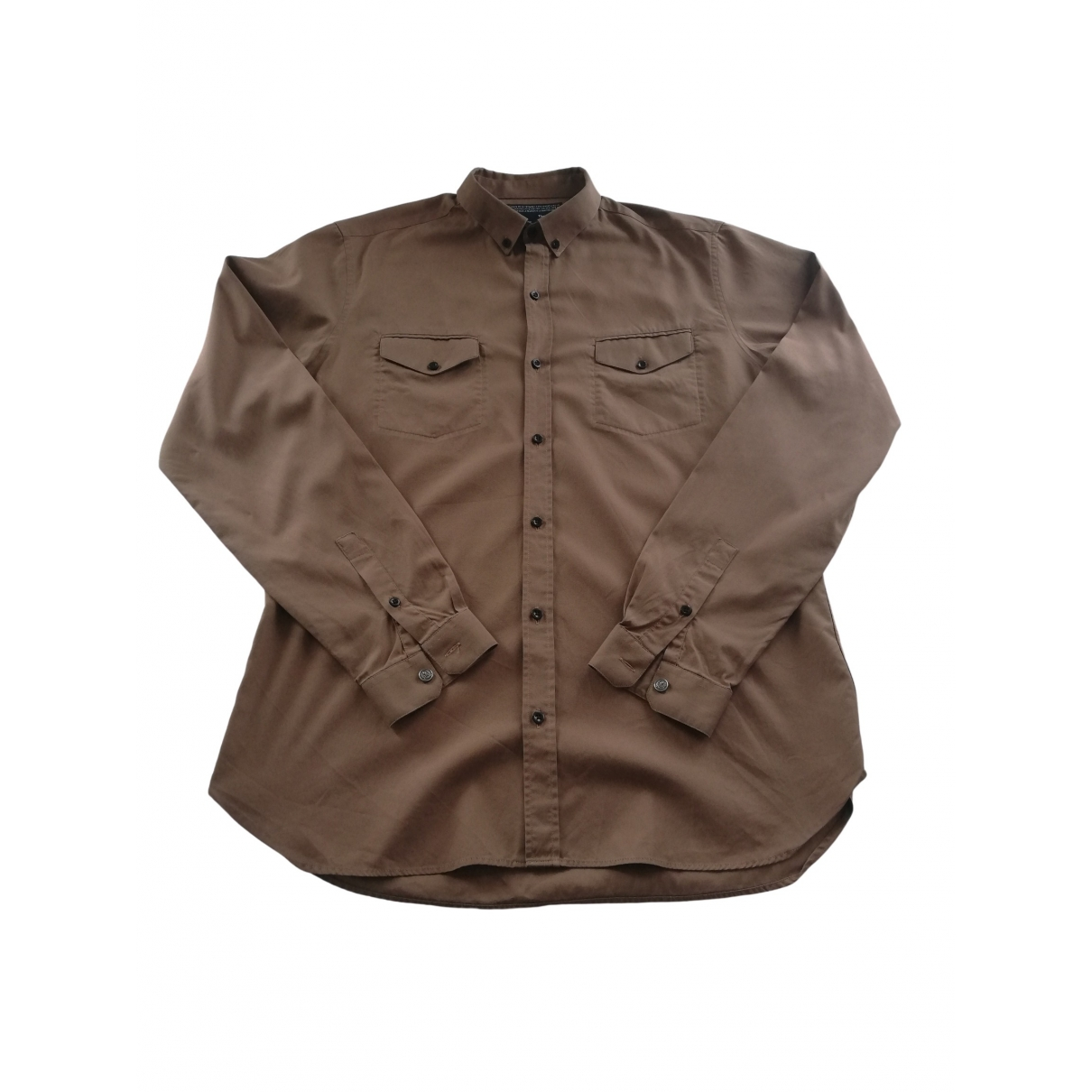 The Kooples \N Brown Cotton Shirts for Men L International