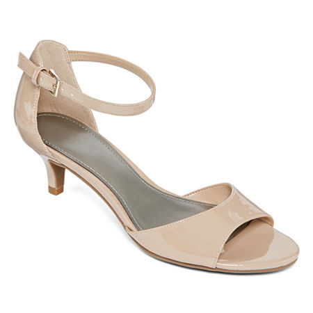 Worthington Womens Garnet Pumps Kitten Heel, 9 1/2 Medium, White