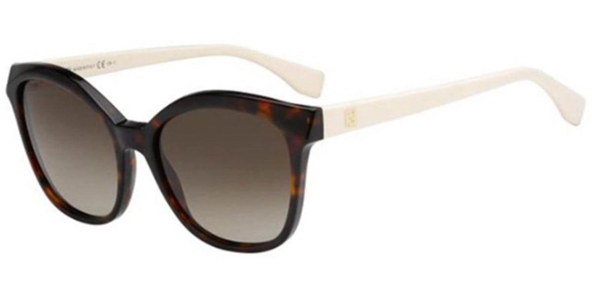 Fendi FF 0043/S MICROLOGO N6G/HA Women's Sunglasses Tortoise Size 55