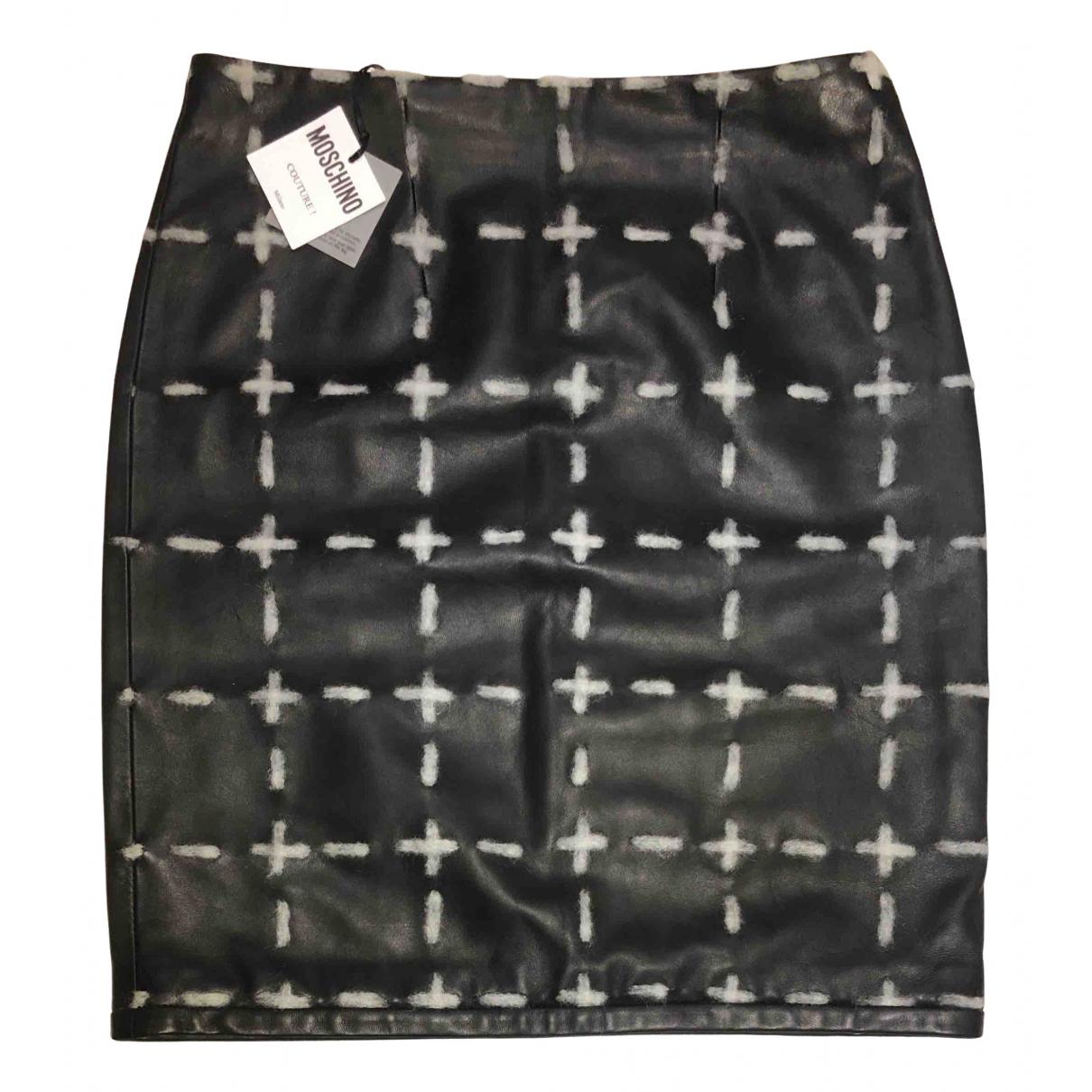 Mini falda de Cuero Moschino