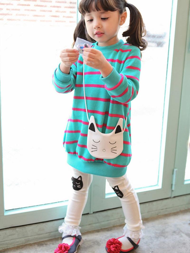 Ericdress Cartoon Stripe Girls Outfit