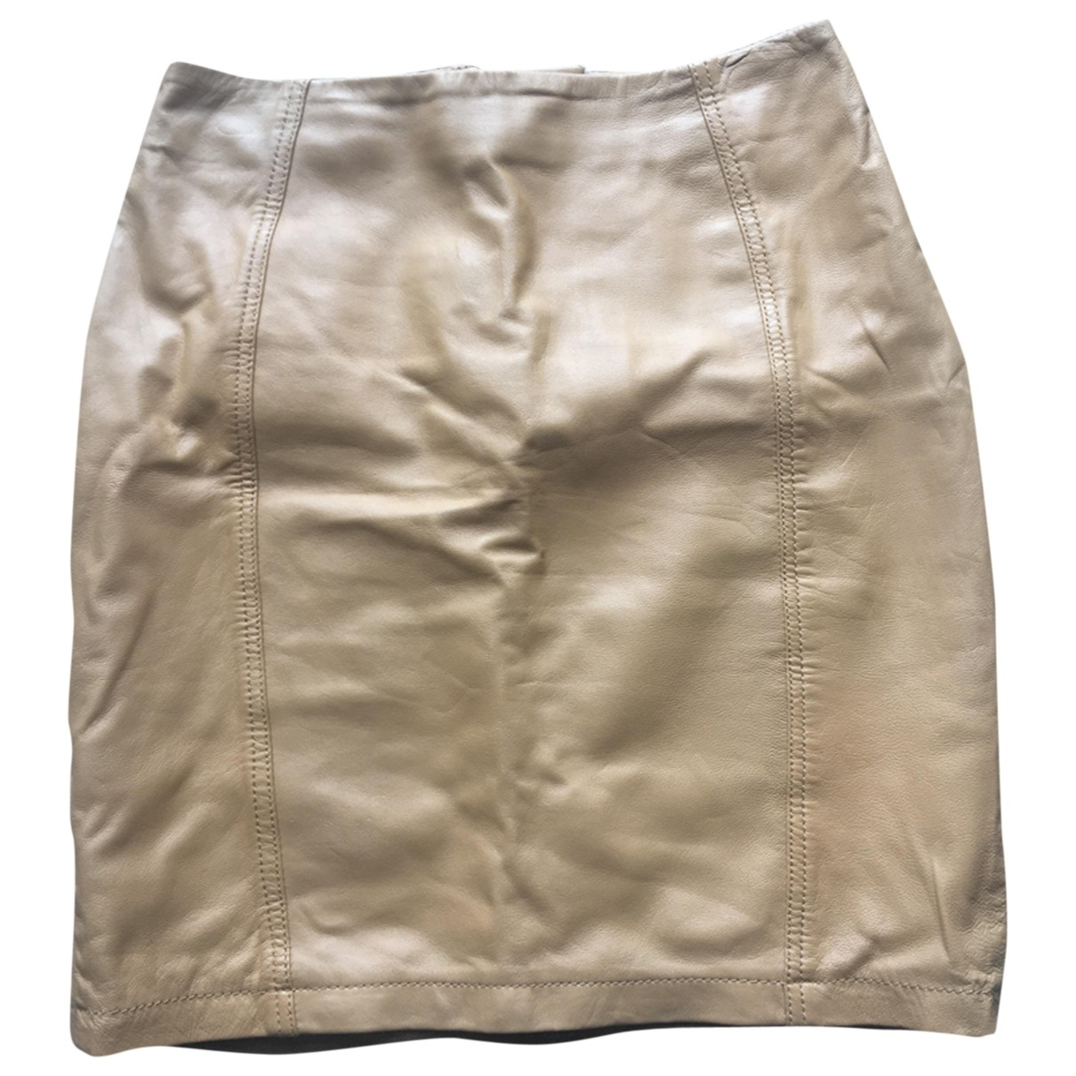 tophop Boutique \N Camel Leather skirt for Women 10 UK