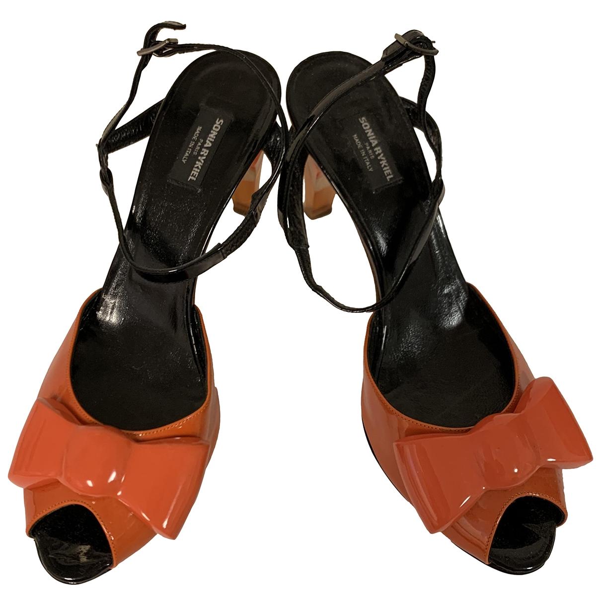 Sonia By Sonia Rykiel - Sandales   pour femme en cuir verni - orange