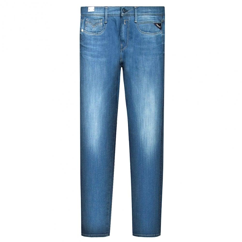 Replay Anbass Hyperflex+ Jeans Colour: LIGHT BLUE, Size: 34 32