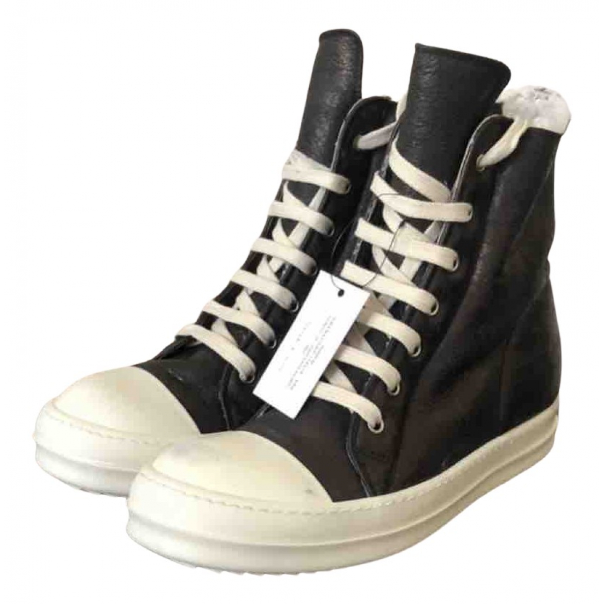 Rick Owens N Black Leather Trainers for Men 40 EU