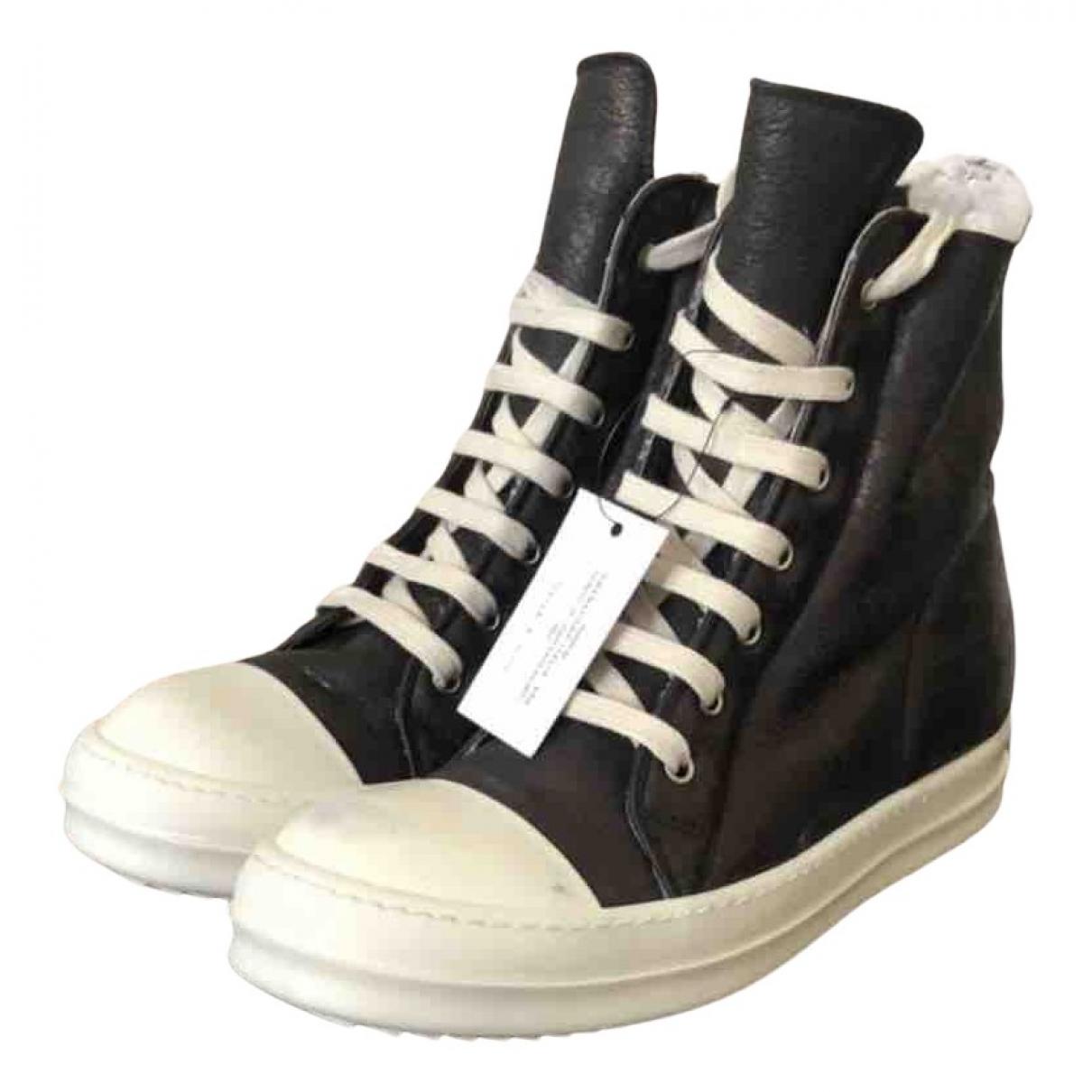 Rick Owens \N Sneakers in  Schwarz Leder