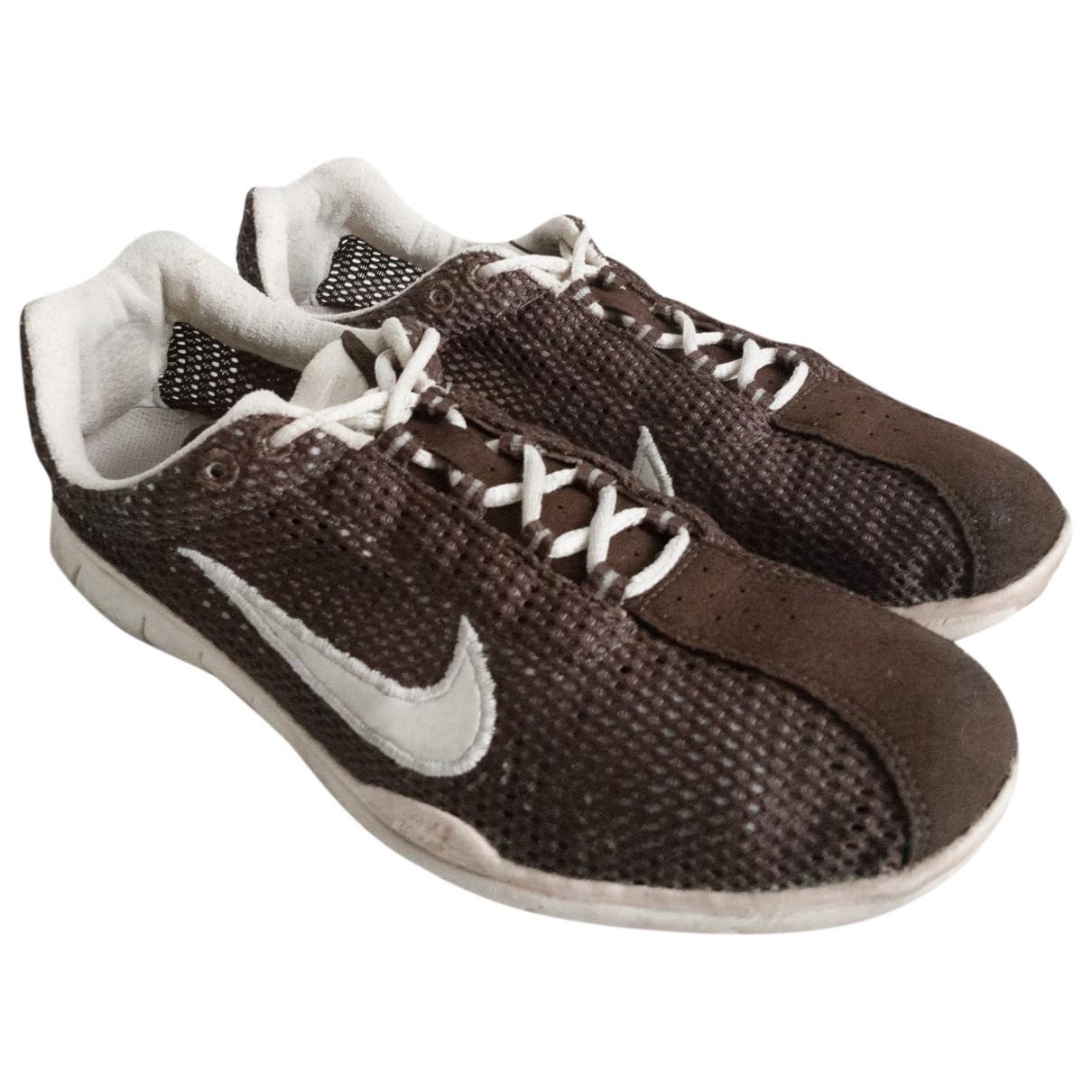 Nike \N Sneakers in  Braun Veloursleder