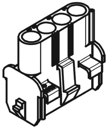 Molex , MLX Female Connector Housing, 6.35mm Pitch, 6 Way, 2 Row (10)
