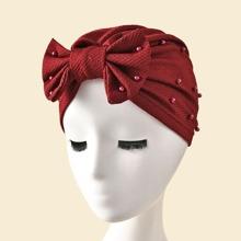 Turban Hut mit Schleife Dekor