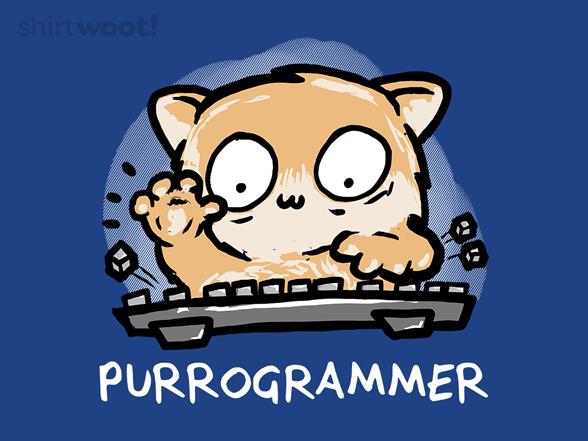 Purrogrammer T Shirt