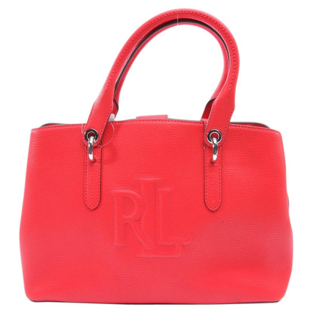 Lauren Ralph Lauren \N Handtasche in  Rot Leder