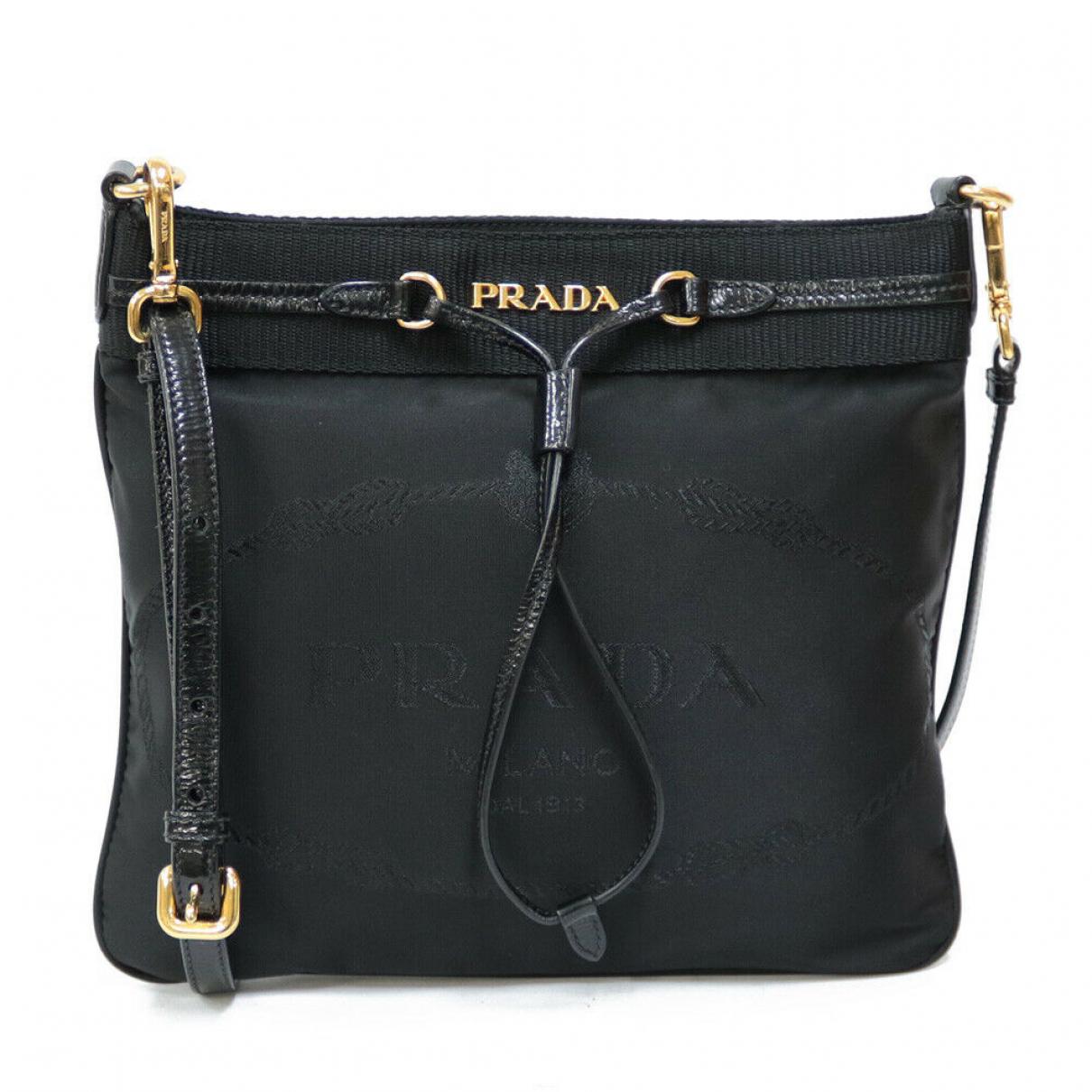 Prada - Sac a main   pour femme en cuir - noir