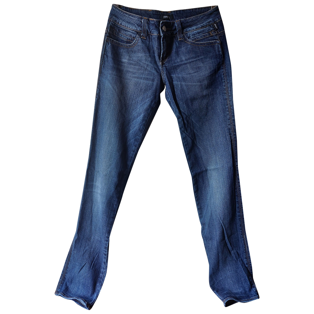 Versace Jeans \N Blue Cotton - elasthane Jeans for Women 38 FR