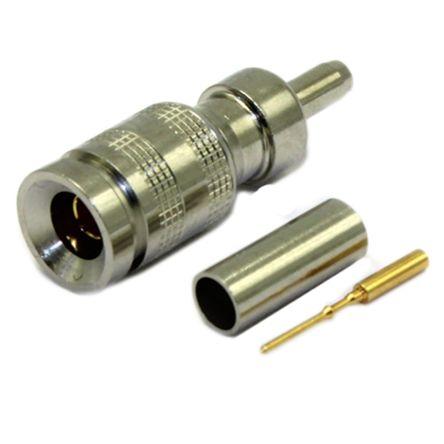 COAX Connectors Straight 75Ω Cable MountBulkhead Fitting Coaxial Connector, Plug, Nickel, Crimp Termination, BELDEN