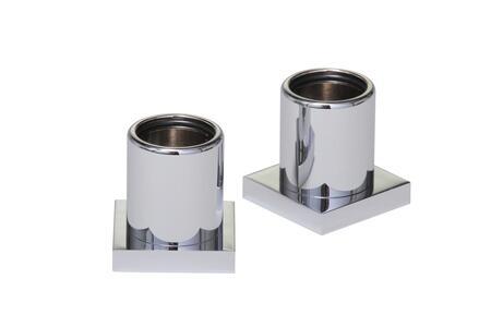 Braga 67604ES Pair of Shower Rod Brackets 1 1/2 H in Satin Nickel