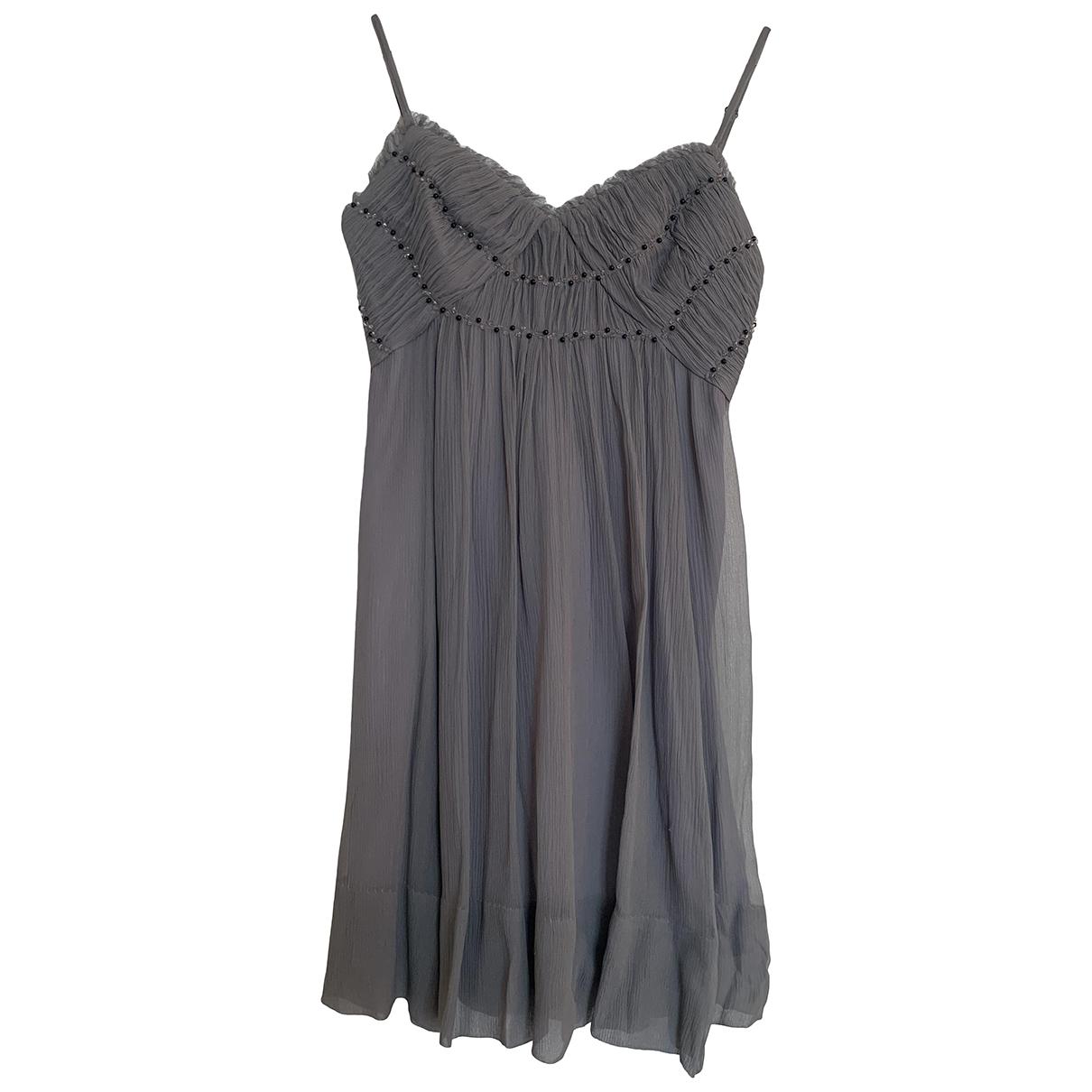 Bcbg Max Azria \N Grey Silk dress for Women 36 FR