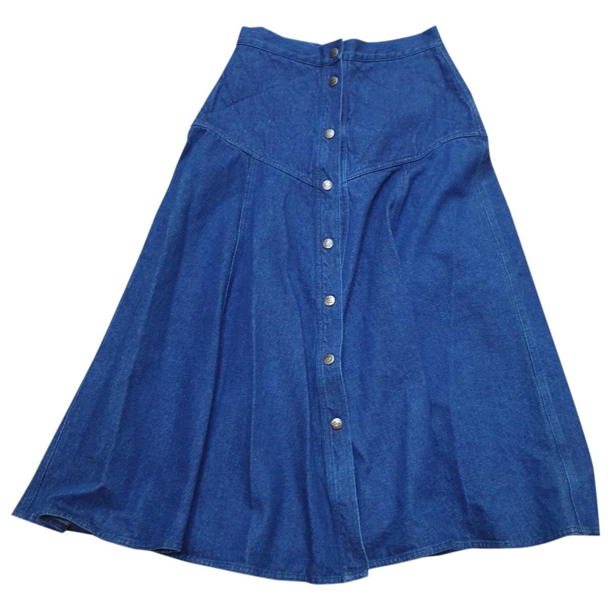 Iceberg \N Blue Denim - Jeans skirt for Women 44 IT