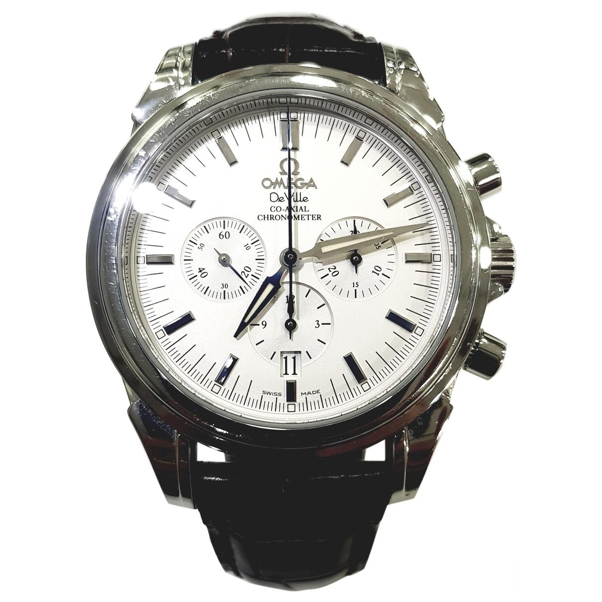 Omega De Ville  Uhr in  Weiss Stahl