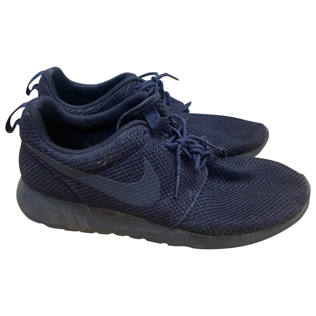 Nike - Baskets Roshe Run pour homme en toile - marine