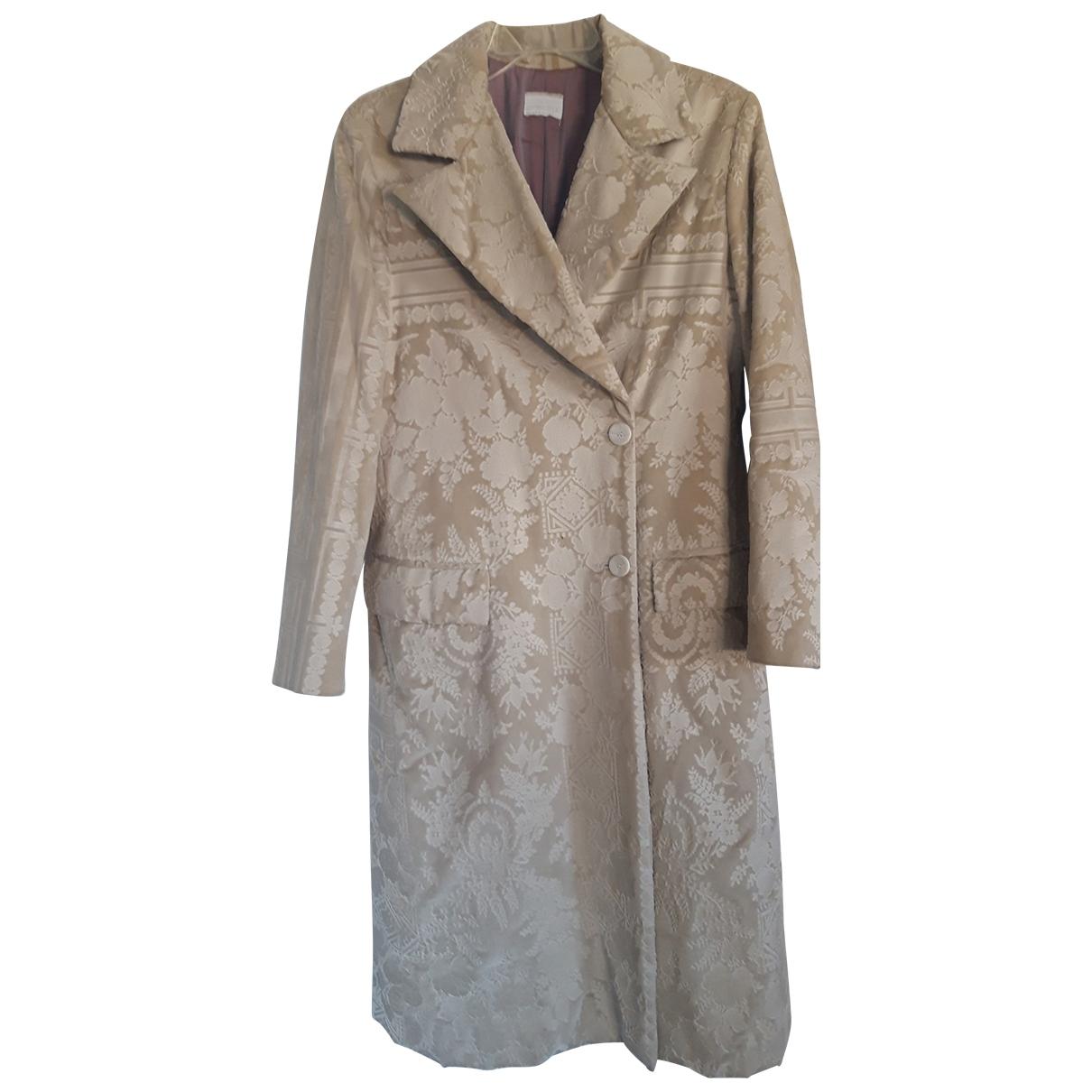 - Manteau   pour femme en velours - beige