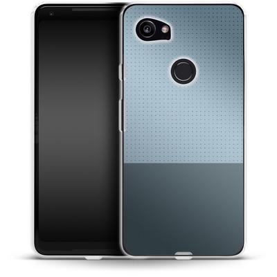 Google Pixel 2 XL Silikon Handyhuelle - Dot Grid Blue von caseable Designs