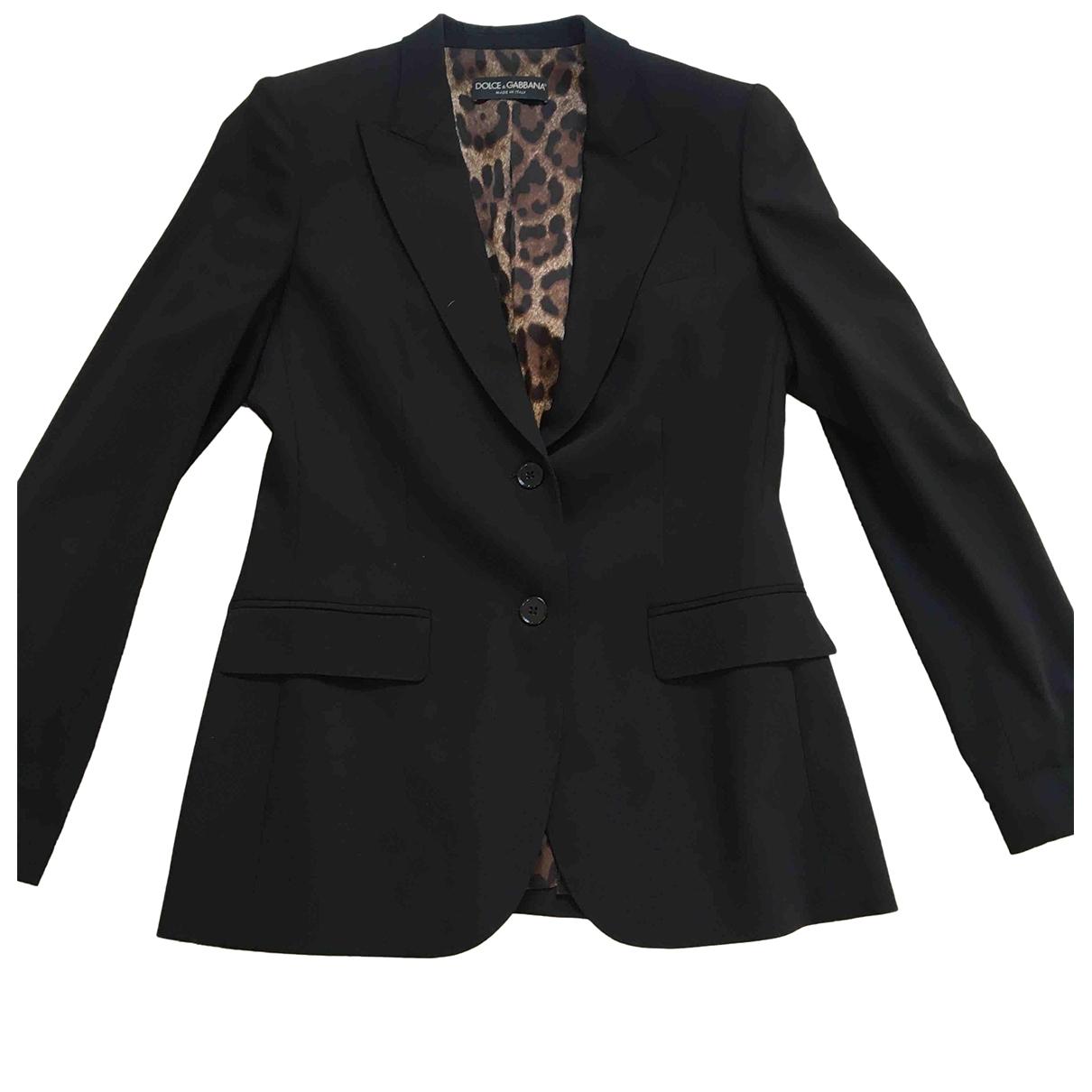 Dolce & Gabbana \N Jacke in  Schwarz Wolle