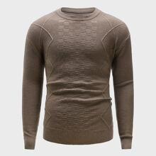 Men Solid Round Neck Sweater