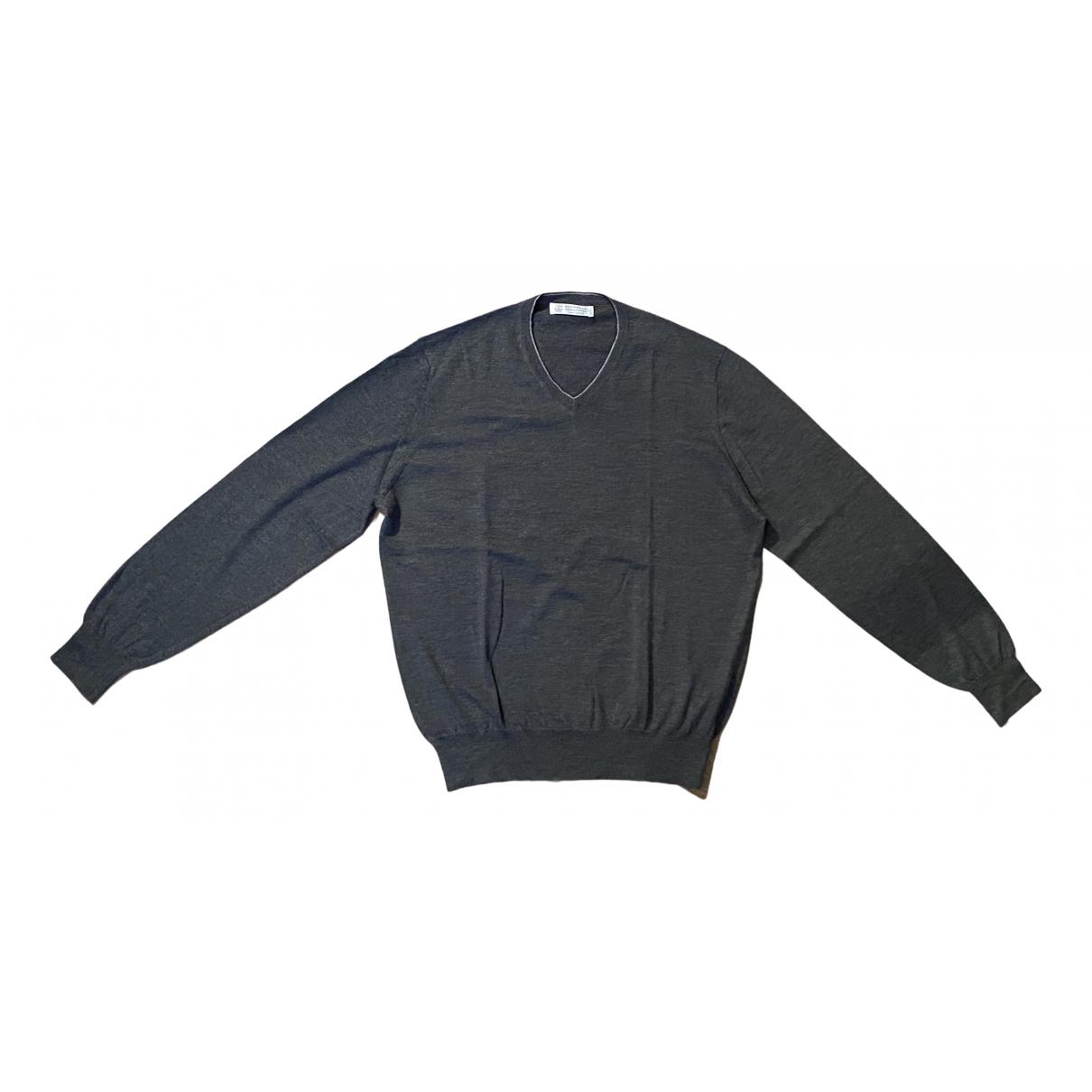 Brunello Cucinelli \N Pullover.Westen.Sweatshirts  in  Anthrazit Kaschmir