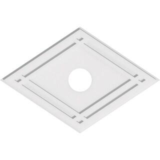 Diamond Architectural Grade PVC Contemporary Ceiling Medallion (34W x 22 5/8H x 5ID x 12C)