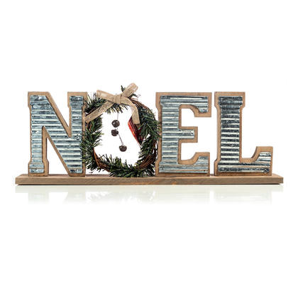Christmas Decoration. Wooden Galvanized