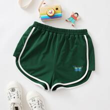 Girls Butterfly Print Dolphin Shorts