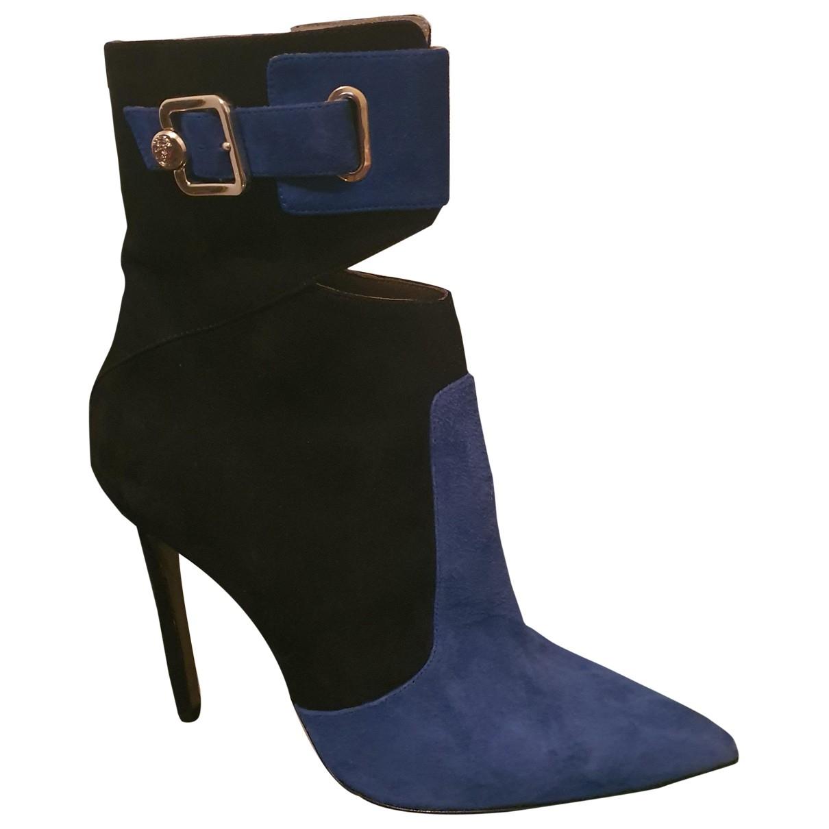 Versace \N Stiefeletten in  Schwarz Veloursleder