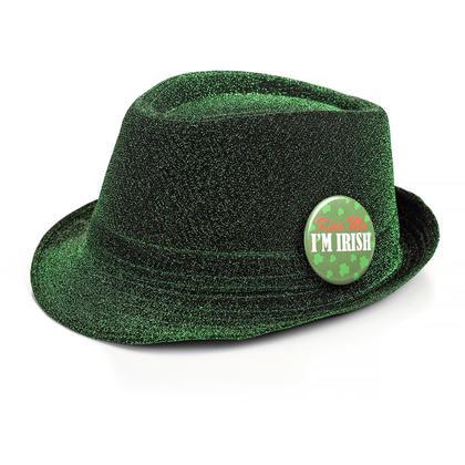 St.Pat's Green Fedora Hat w/Pin