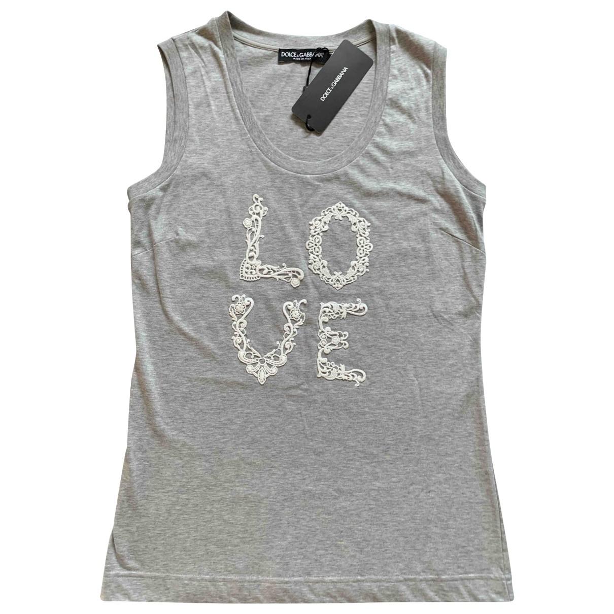 Dolce & Gabbana - Top   pour femme en coton - gris