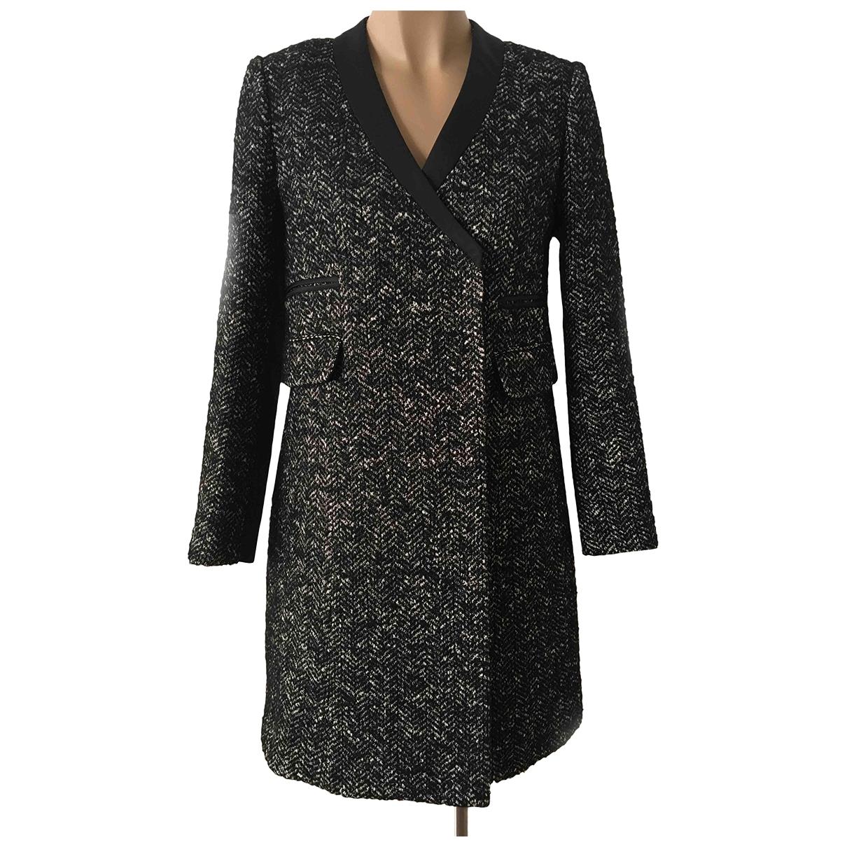 Tara Jarmon \N Black Wool coat for Women 38 FR