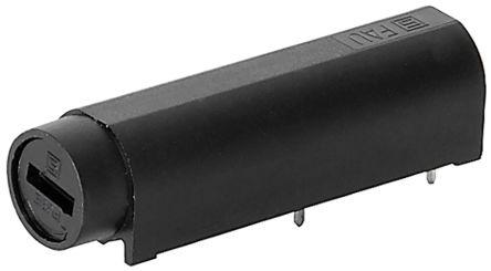 Schurter 10A Slotted Cap PCB Mount Fuse Holder for 5 x 20mm Cartridge Fuse, 250V ac (10)