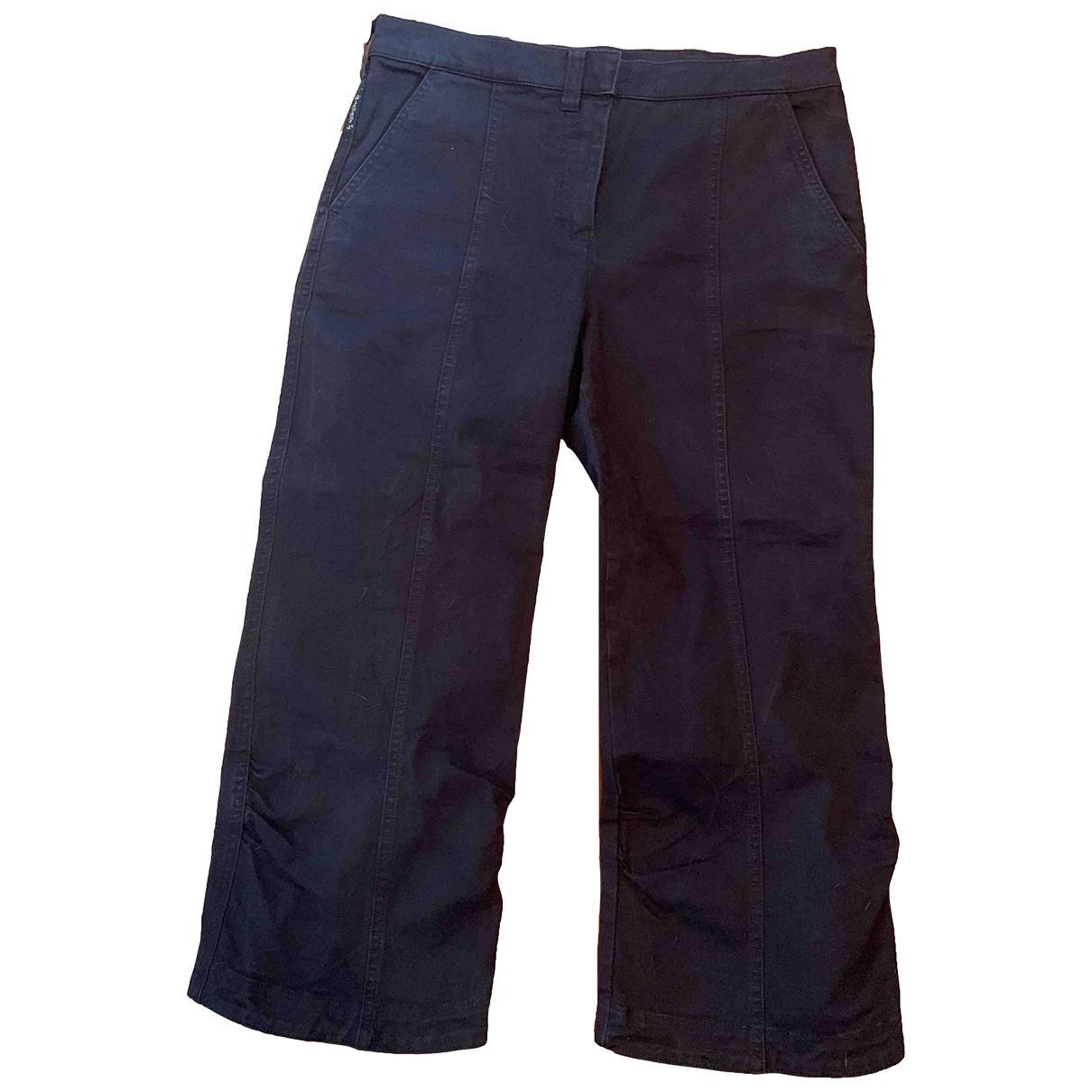 Armani Jeans \N Blue Cotton Trousers for Women 42 IT