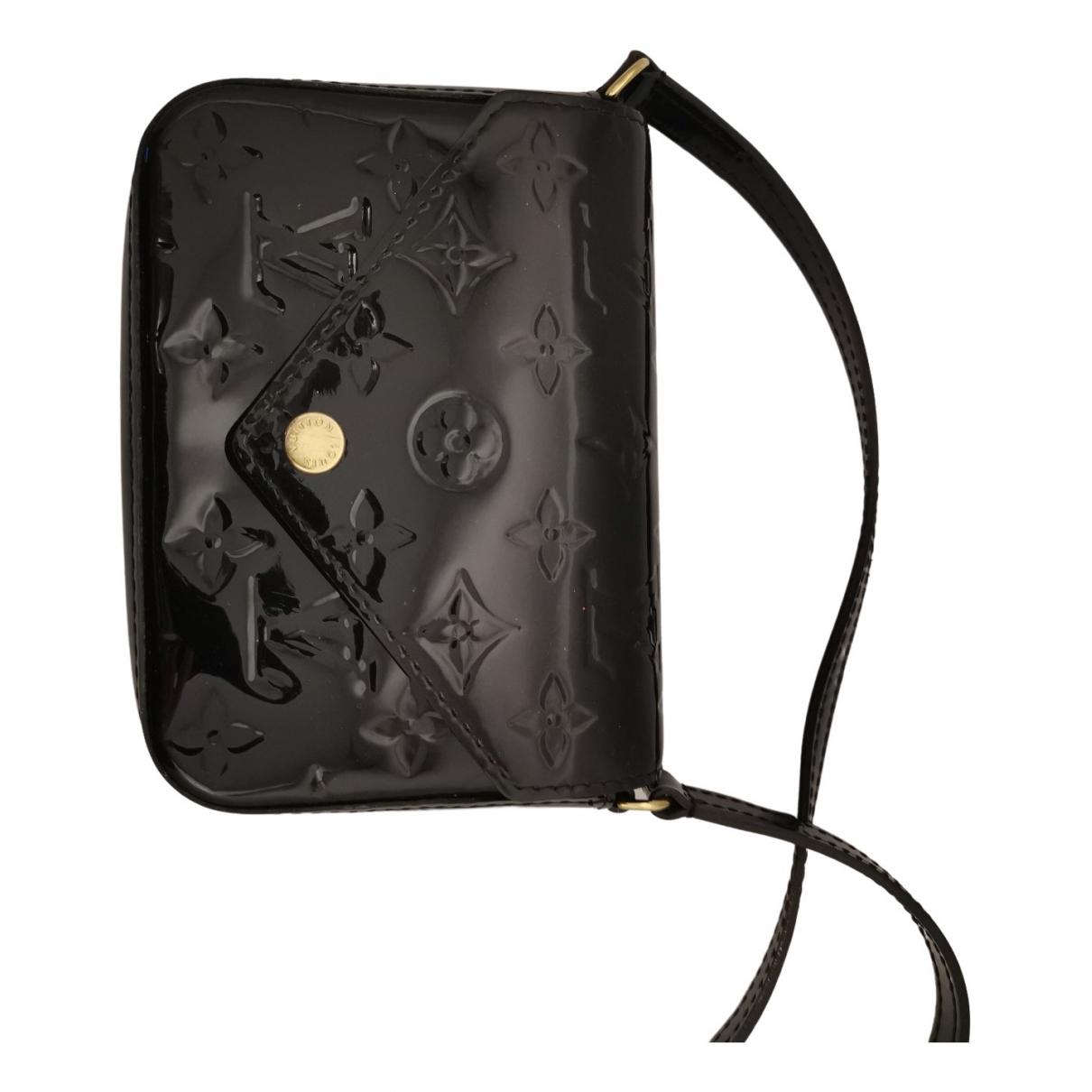 Louis Vuitton \N Handtasche in  Schwarz Lackleder
