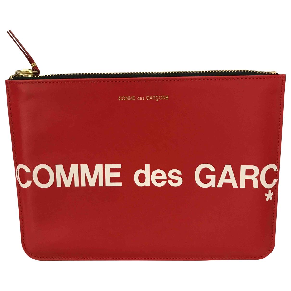 Comme Des Garcons \N Kleinlederwaren in  Rot Leder