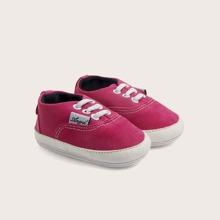 Baby Maedchen Slip On Segeltuch Schuhe