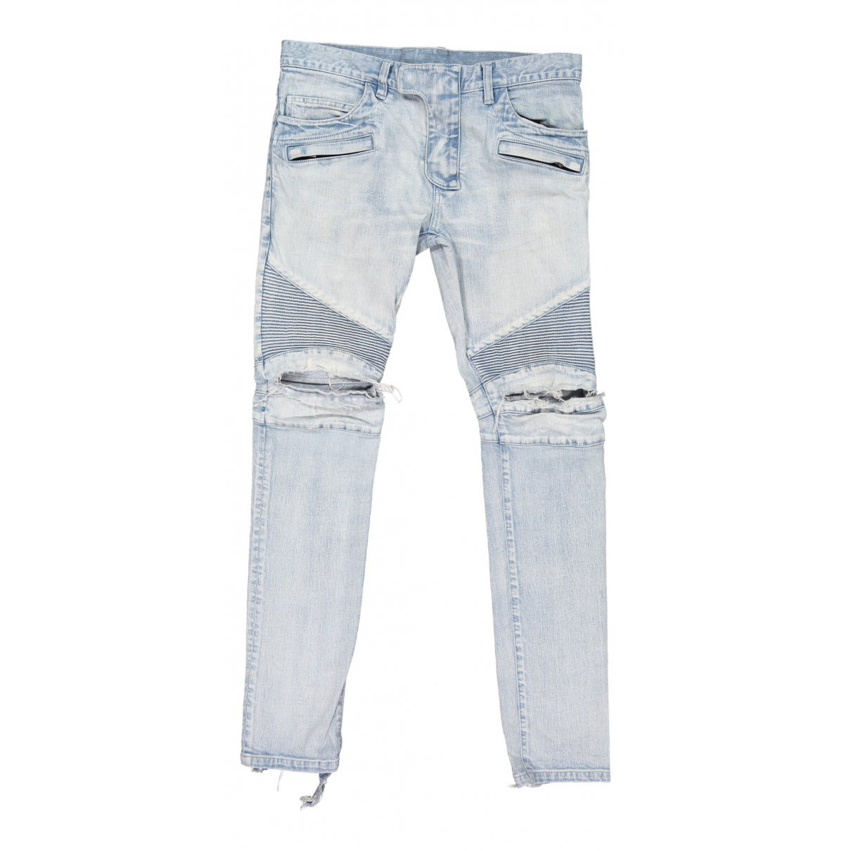 Balmain \N Blue Cotton Jeans for Men 32 US