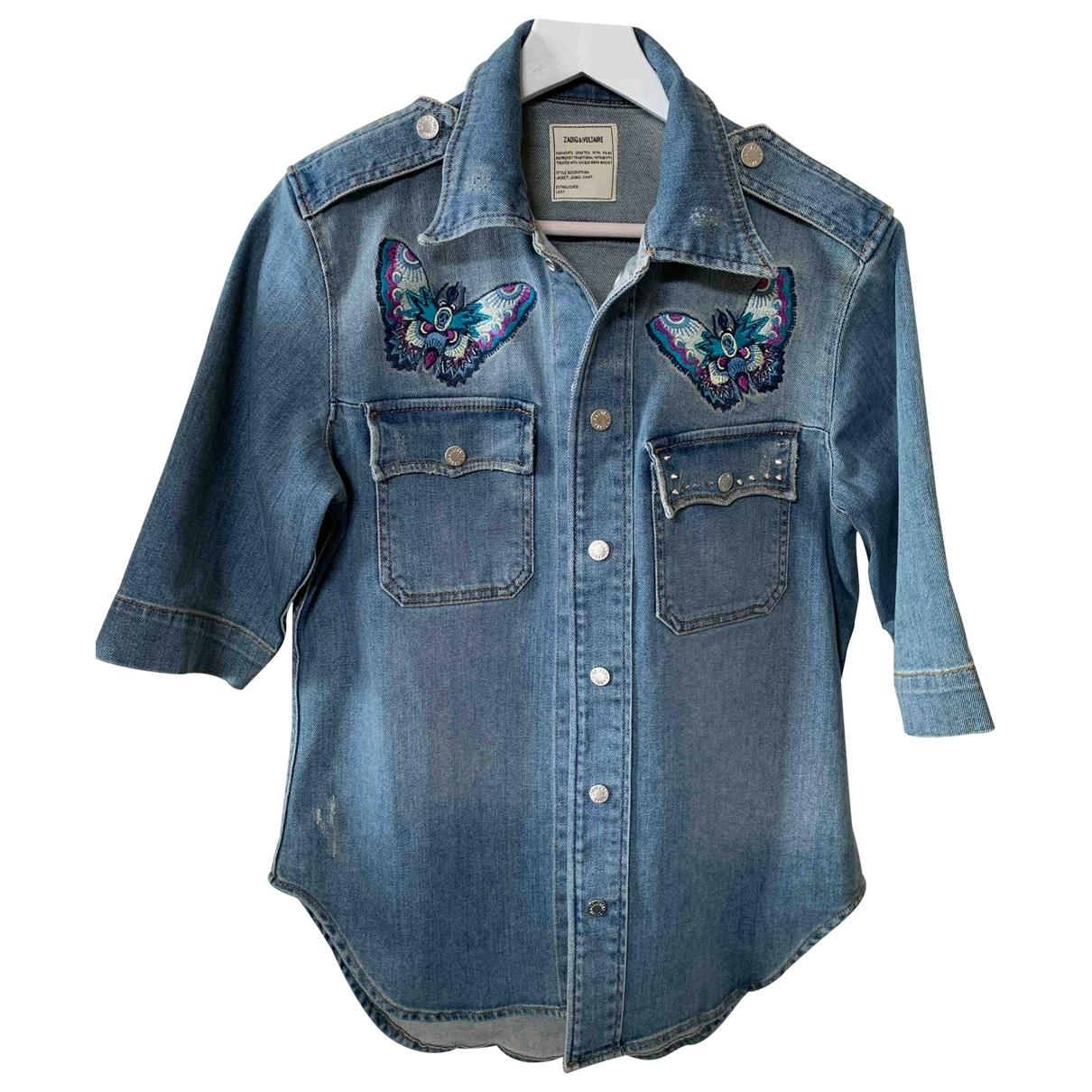 Zadig & Voltaire \N Blue Denim - Jeans  top for Women 38 FR