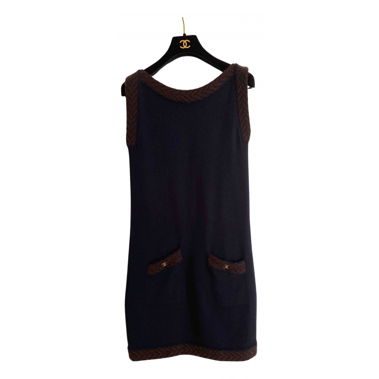 Chanel N Blue Cashmere dress for Women 36 FR