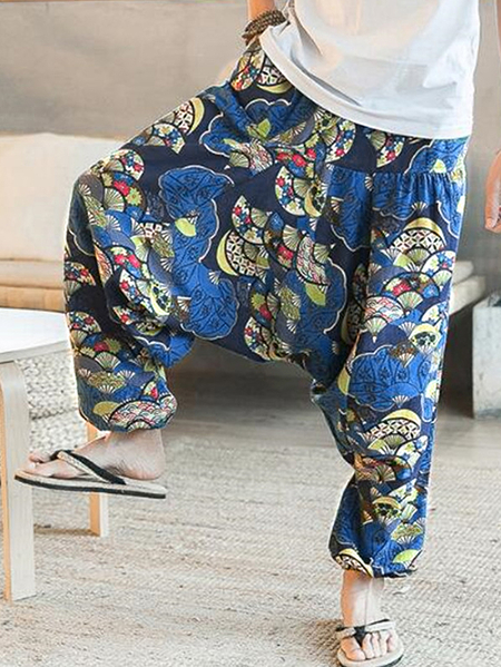 Yoins INCERUN Men Tribal Print Loose fit Casual Pants