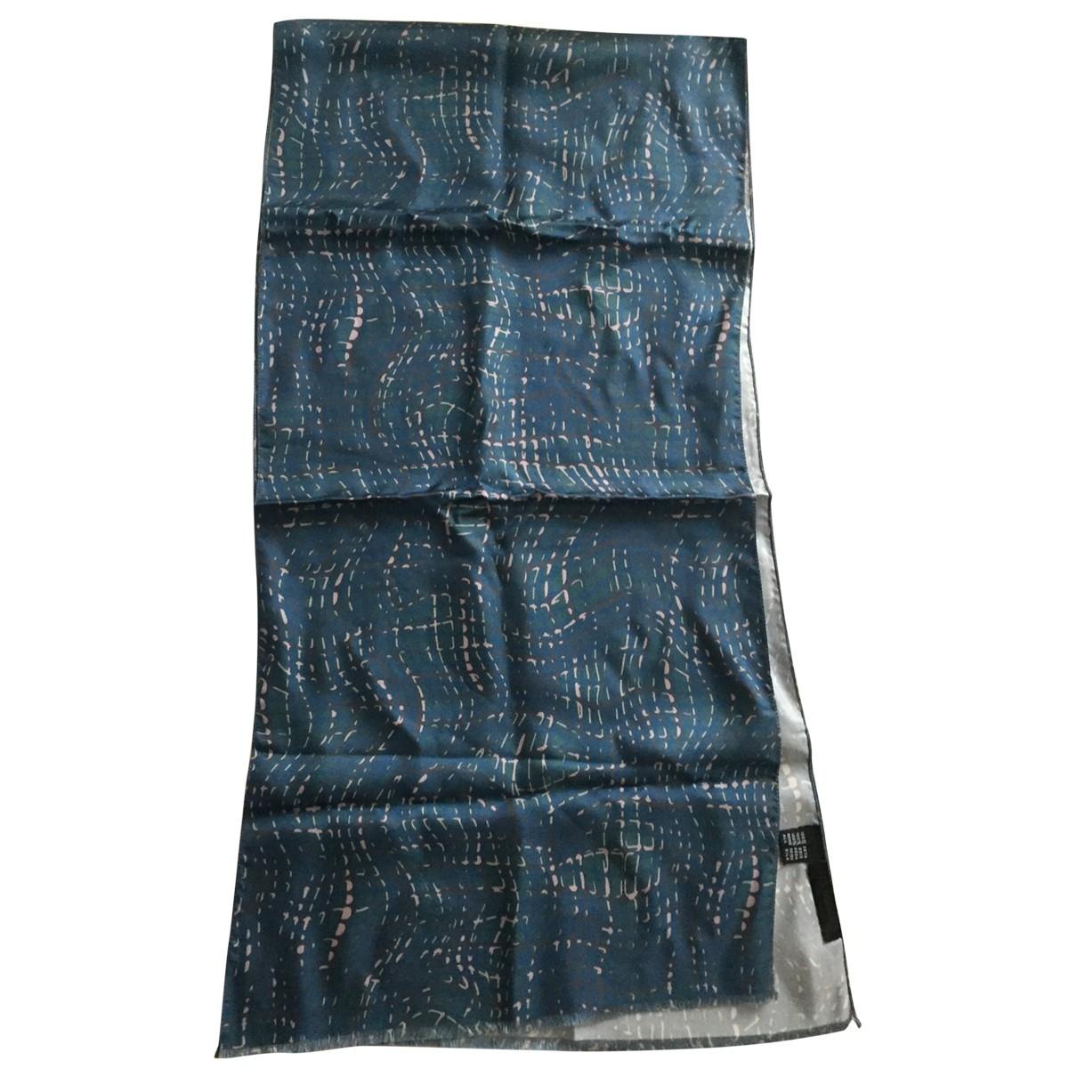 Les Hommes - Cheches.Echarpes   pour homme en soie - bleu