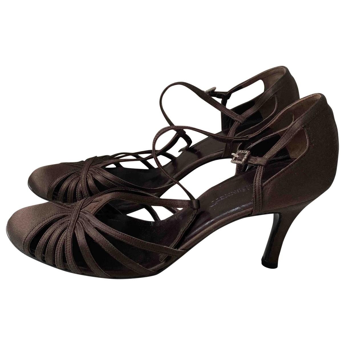 Lk Bennett \N Brown Cloth Heels for Women 37.5 EU